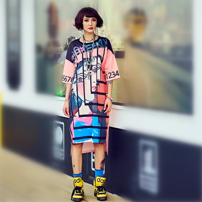 ばかり。が。決してヒップホップスタイルロング tシャツ by パンク tシャツガールズ原宿韓国ストリートヒッピーヒップスターかわいいグラフィック tシャツ  グループ上の レディース衣服 からの Tシャツ の中 1