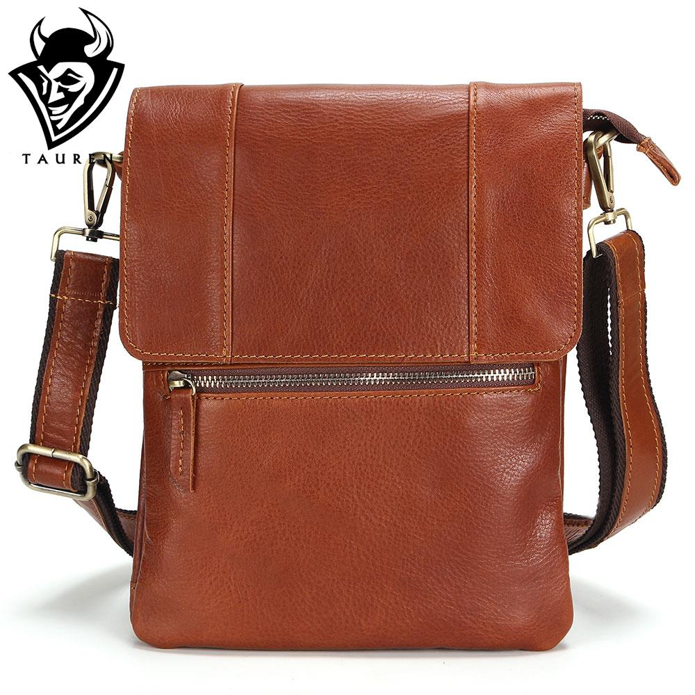 100% Leather Vintage Fashion Mens Leather Bag Casual Business Mens Bag High Quality New Mens Travel Crossbody Bag Promotion