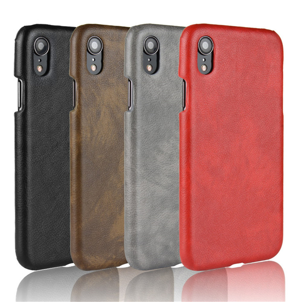 For Apple iPhone XR Case Luxury Litchi PU Leather Hard Thin Back Cover Shockproof Case For iPhone XR X R Protective Phone Cases