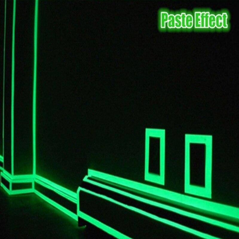 1 Meter Leucht Band Wasserdicht Self-adhesive Glow In The Dark Warnung Aufkleber Diy Sicherheit Bühne Leucht Band Produkte HeißEr Verkauf