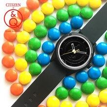 Reloj de pulsera solar de cuarzo a prueba de agua de marca de lujo para hombre, Conjunto de reloj Q&Q 0J002Y