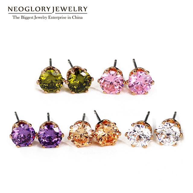 Neoglory Small Five Pairs Colorful Nickel Free Stud Earrings Set For Women S Brand