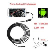 Android Endoscope 7MM Lens 6LED Micro USB Endoscope Camera 1M 1 5M 2M 3 5M 5M