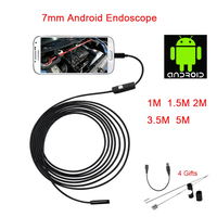 Android Endoscope 7MM Lens 6LED Micro USB Endoscope Camera 1M 1 5M 2M 3 5M 5M