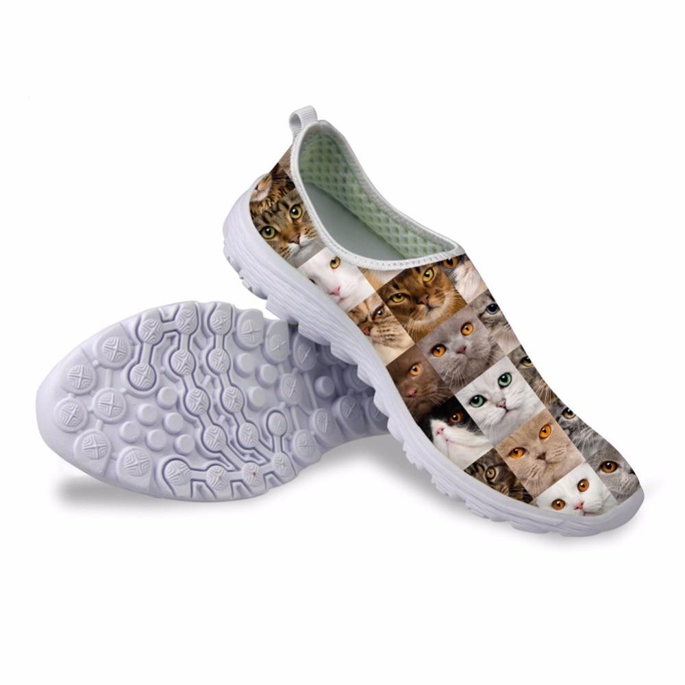 Noisydesigns 2018 جنس رياضة تنفس الهواء شبكة - أحذية المرأة