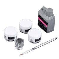 High Quality Portable Nail Art Tool Kit Set Crystal Powder Acrylic Liquid Dappen Dish