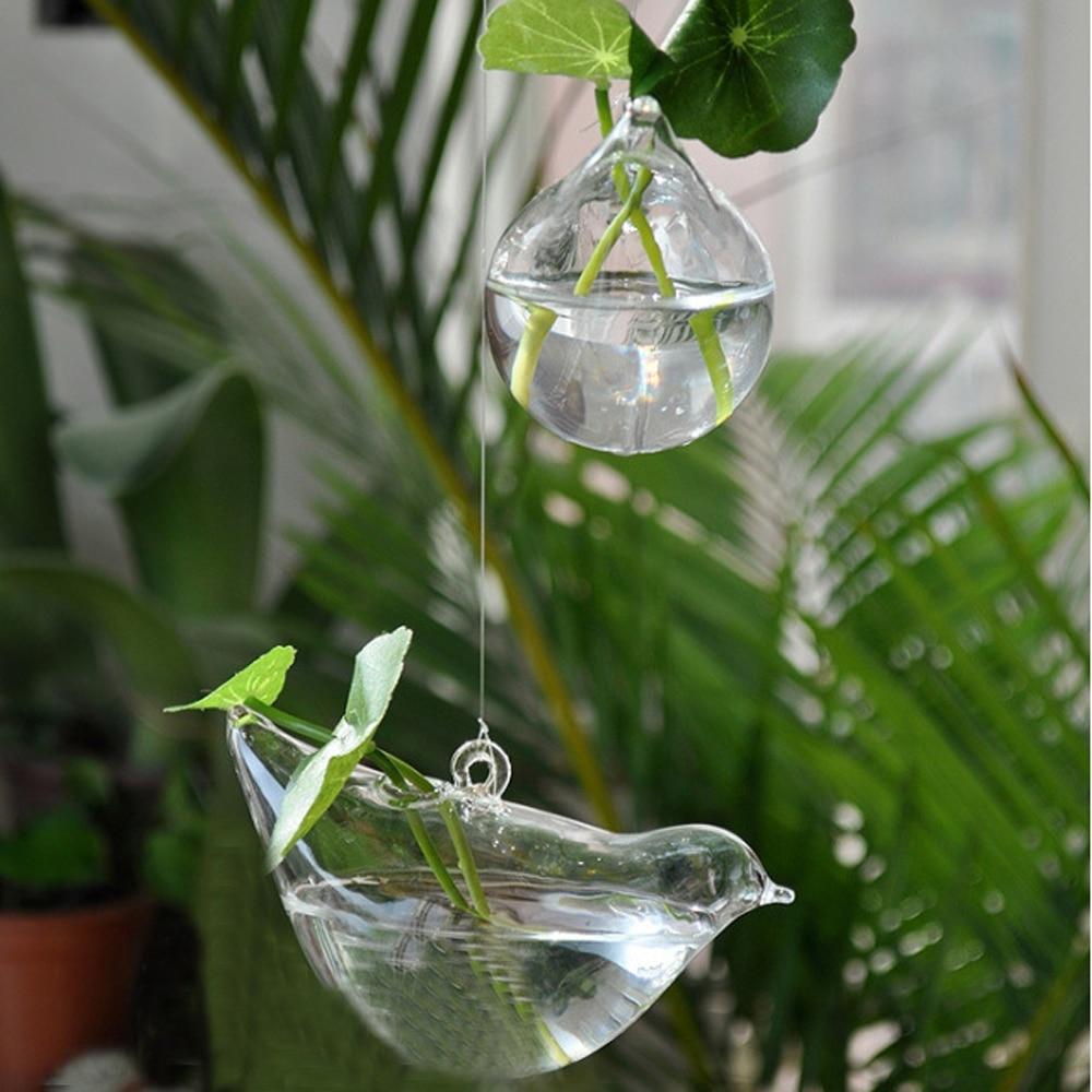 3 Pcs / lot Baru KEYAMA bentuk Burung kaca menggantung vas bunga - Dekorasi rumah - Foto 3