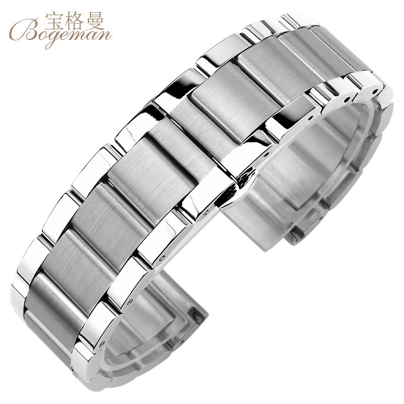 Solid 316L Stainless Steel Watchbands Silver 18mm 20mm 21mm 22mm 23mm 24mm Metal Watch Band Strap Wrist Watches Bracelet+tool