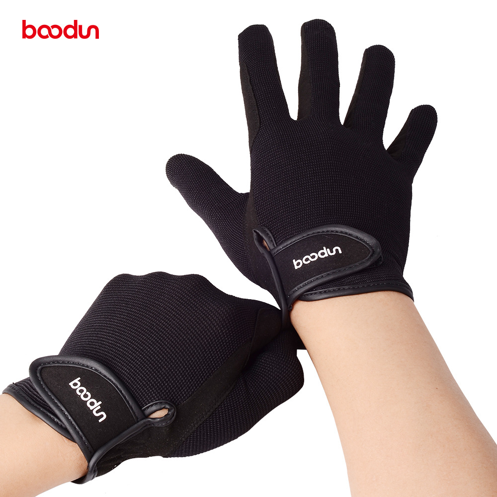 BOODUN Professional Horse Riding Gloves for Men Women Wear resistant Antiskid Equestrian Gloves Horse Racing Gloves Equipment-in Riding Gloves from Sports & Entertainment