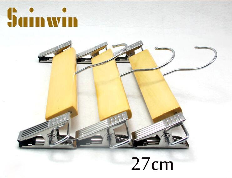 Sainwin 10ks / lot 27cm Dřevěný stojan na oblečení pro děti Dětský stojan Dřevěný dětský závěs Kalhoty na kalhoty