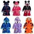 2016 New Boys And Girls Cartoon Robes Children Pajamas Cartoon Baby Home Wear Retail CS022