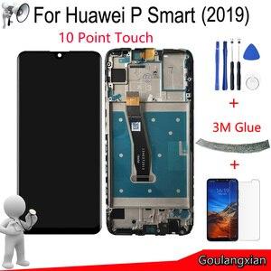 """Image 1 - 6.21 """"Aaa Originele Met Frame Voor Huawei P Smart 2019 Lcd Touch Screen Digitizer Vergadering Voor P Smart 2019 Reparatie Deel"""