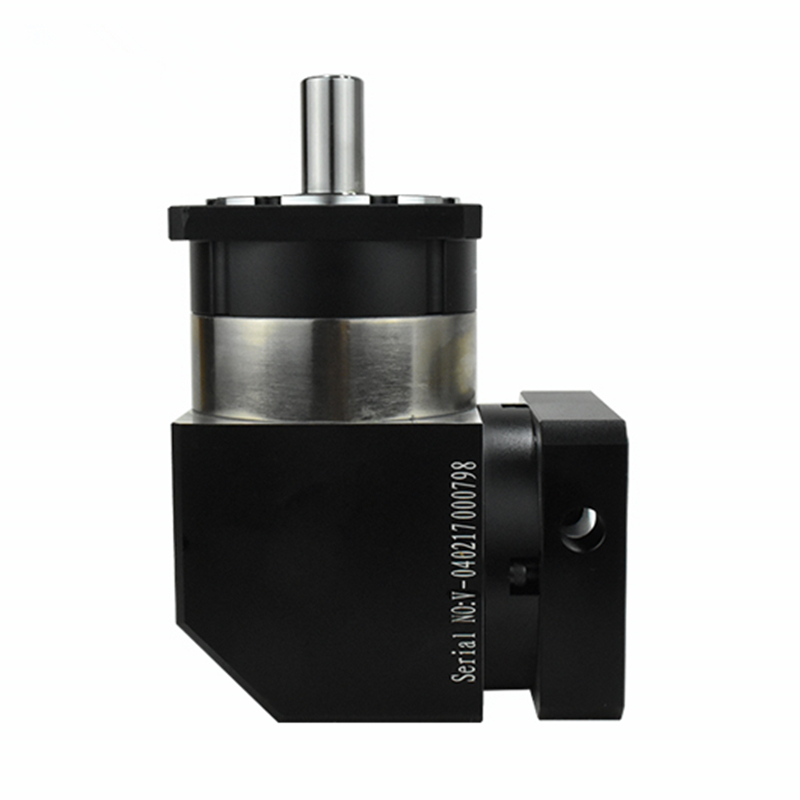 right angle 90 degree planetary gearbox reducer 10 arcmin 1 stage Ratio 3:1 to 10:1 for NEMA23 stepper motor input shaft 8mm