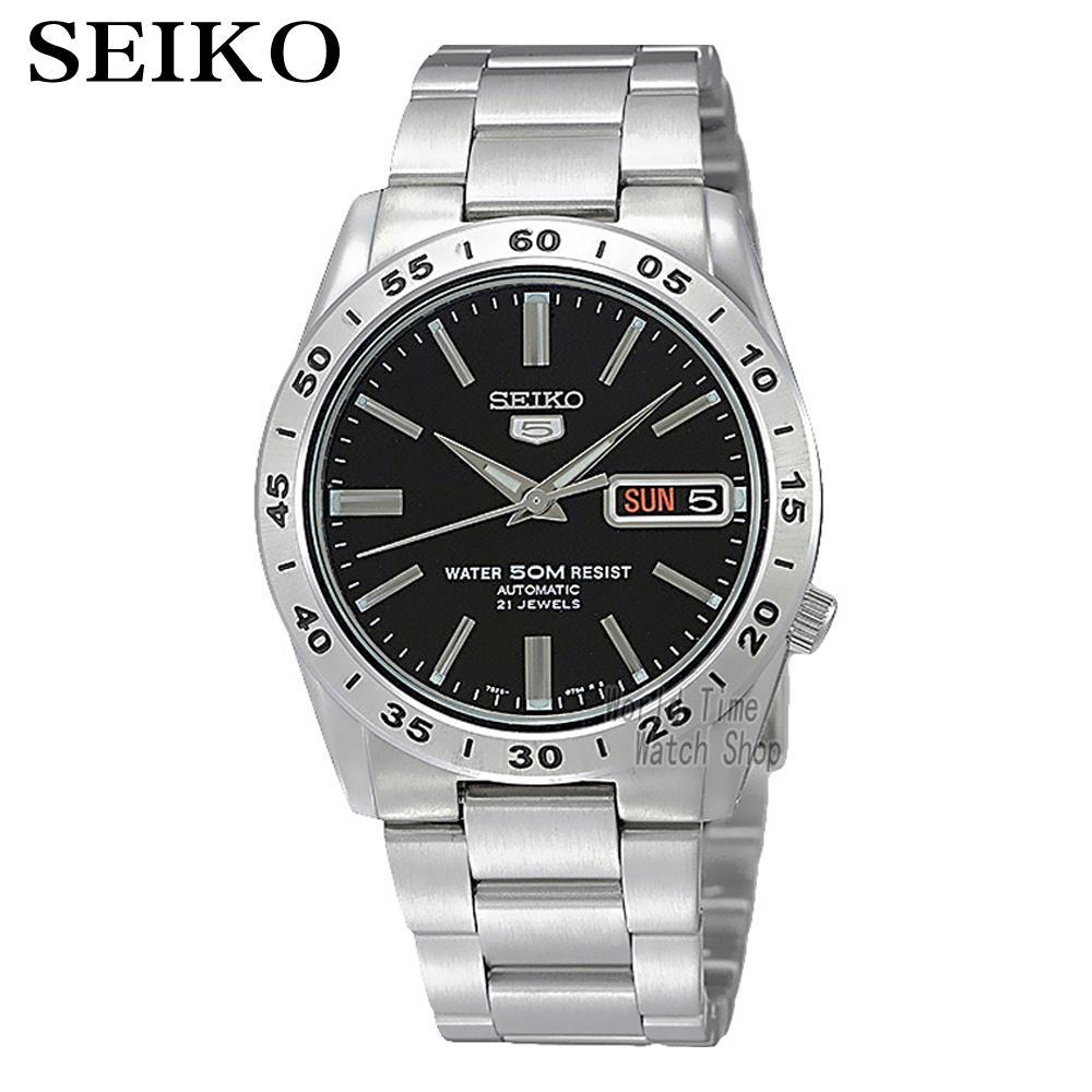 SEIKO Shield No.5 Business Week Calendar Steel Band Automatic Machine Male Watch SNKE01J1 seiko watch no 5 automatic mechanical watch male watch snk621k1 snk623k1