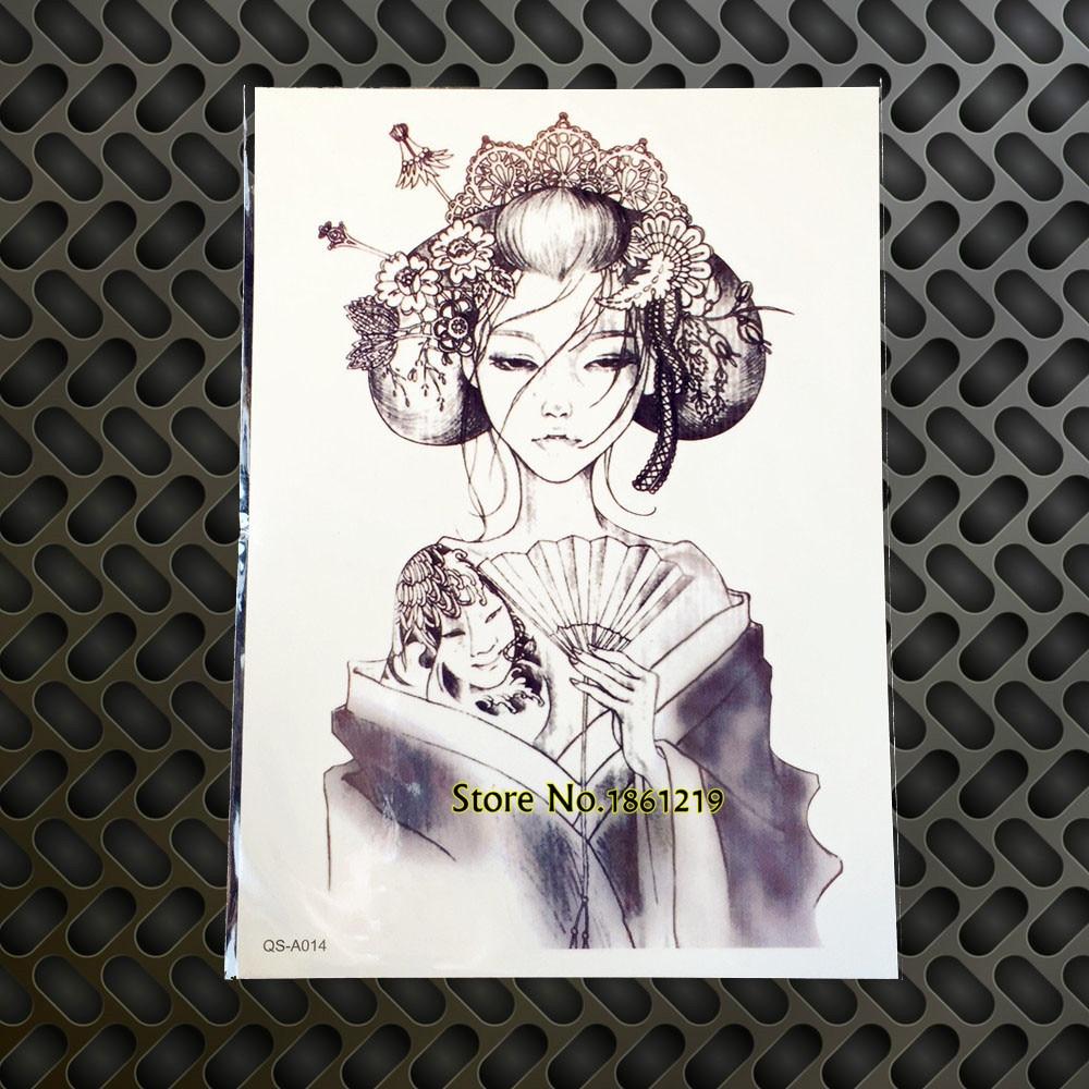 spesso 1PC Nuovo di Disegno Giappone Geisha Ragazza Del Tatuaggio, Lo CW56