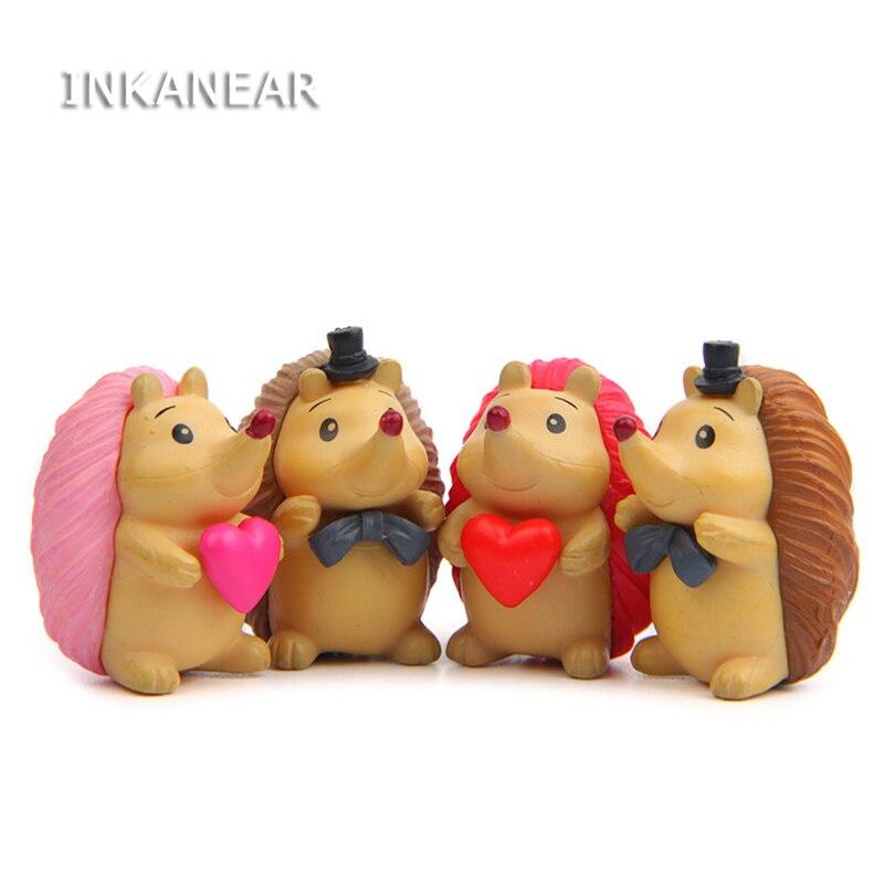 Inkanear Mini Hedgehog Models Fairy Garden Miniatures Decor