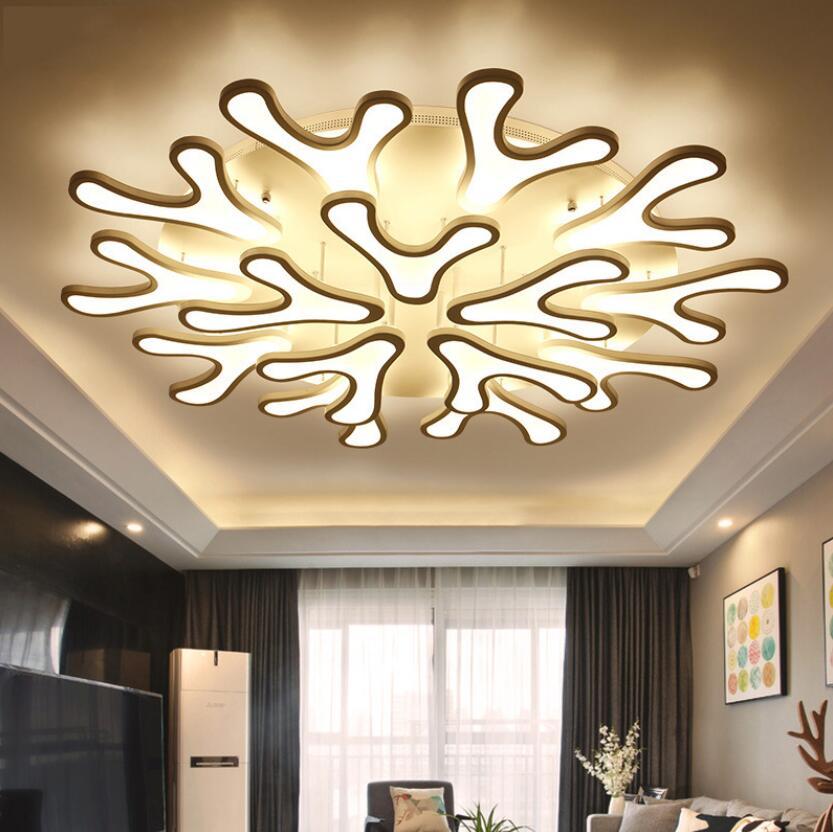 New Modern Led Deer Antler Acrylic Ceiling Lamp Pendant