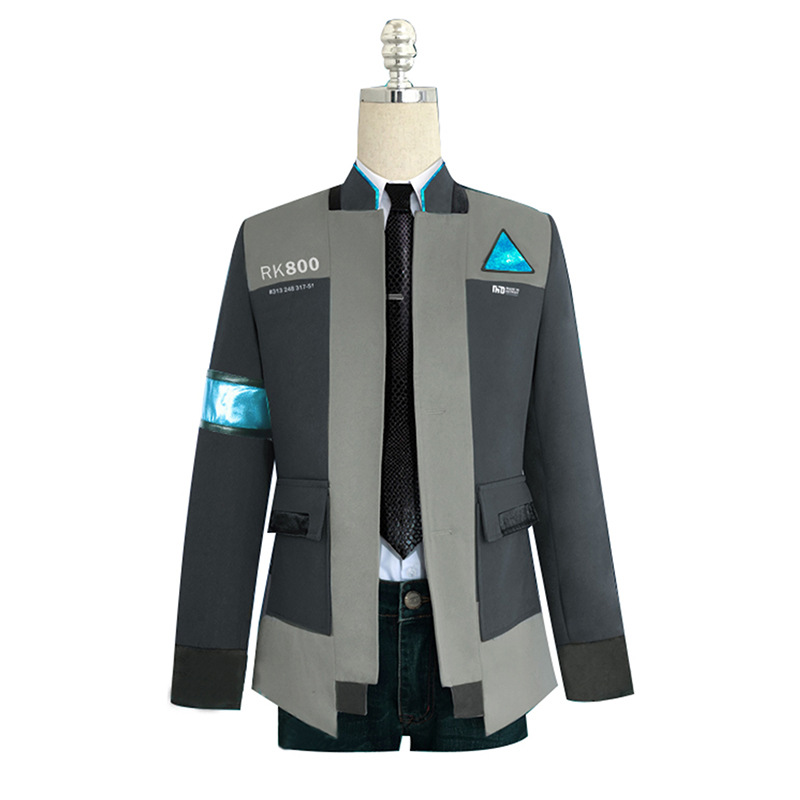 Game Detroit: Become Human Connor RK800 Agent Suit Men Uniform Coat  Halloween Cosplay Costume Jacket Outfit