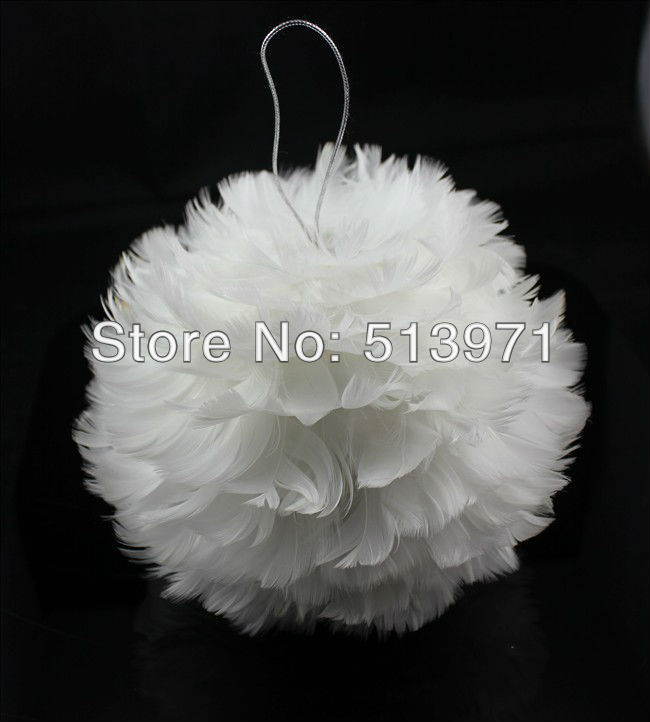 2014 feather christmas ball christmas tree ornament feather ball indoor christmas decoration about 15cm in ball ornaments from home garden on - Feather Christmas Tree Decorations