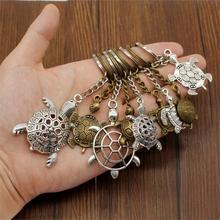 New Fashion Creative Key-rings Tortoise Car Key Chain Ring Holder Souvenir Handmade Gift For Boyfriend