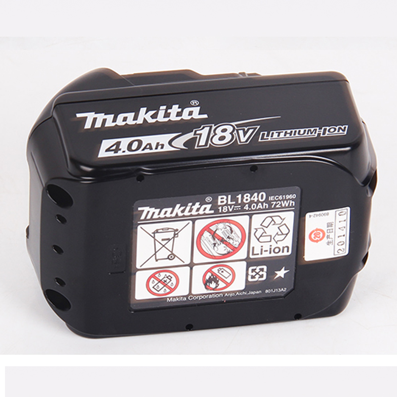 Japan Makita Original 18V lithium battery BL1830 Charging Power Tool Battery BL1840B lithium battery Charged display BL1840 5000mah rechargeable lithium ion replacement power tool battery packs for makita 18v bl1830 bl1840 bl1850 lxt400 194205 3 p25