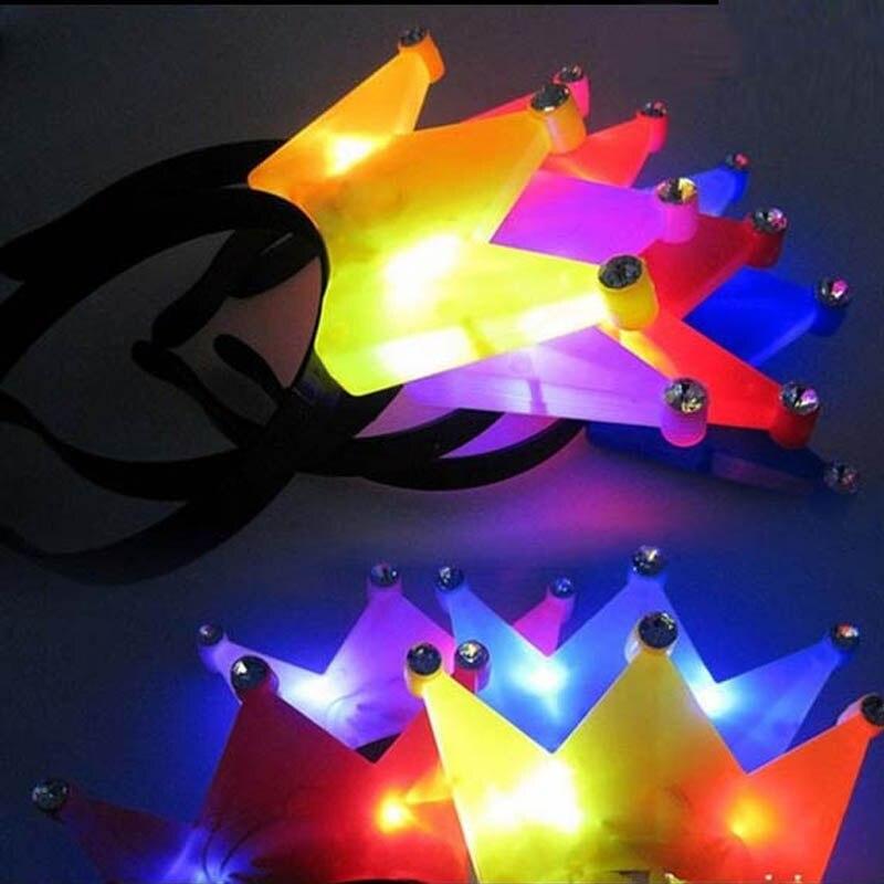WOMEN GIRL PRINCESS TIARA CROWN FLASHING  LIGHT LED HEADBANDS HEN PARTY HAIR ACCESSORIES WEDDING DECORATION 3