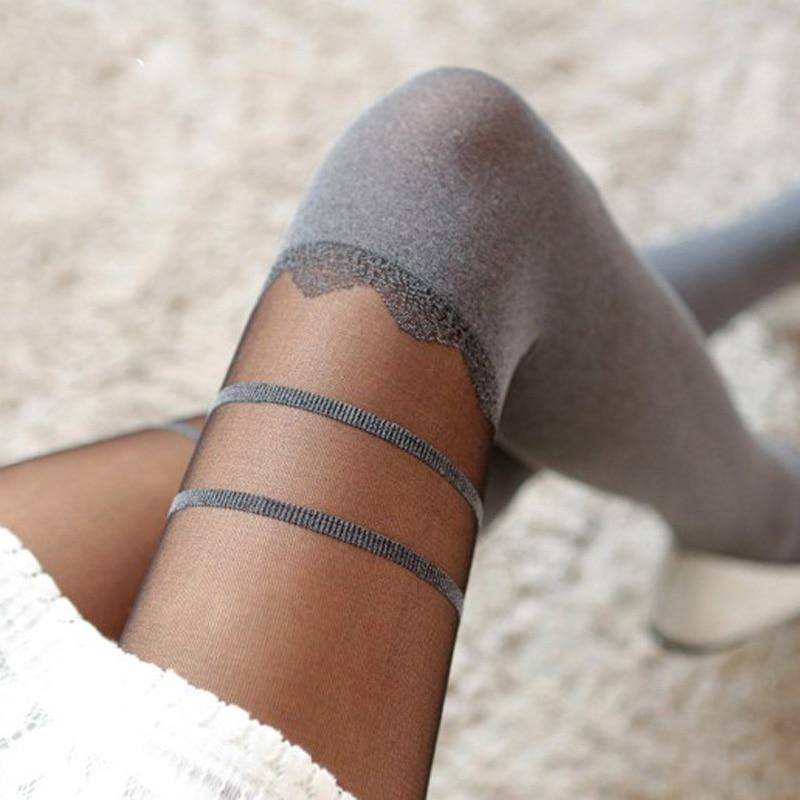 Ladies Tights Thin Pantyhose Stockings Sexy Women Casual Tights Girls Pantyhose Striped Pattern Nylon Pantyhose Collant Hosiery