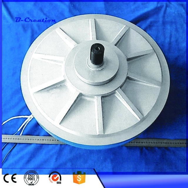 PMG 500W 350RPM Coreless PMG generator/wind alternator Outer rotor ...