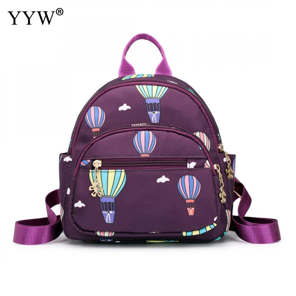 Women Backpacks Ladies Shoulder-Bags Printed Teenager-Girls School Fashion Oxford Small