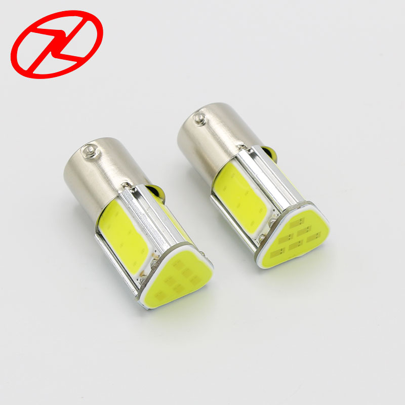 2PCS Universal 1156 G18 Ba15s P21W 4 COB Turn Signal Reverse Light LED Auto Car Stop Brake Bulb Lamp 12V