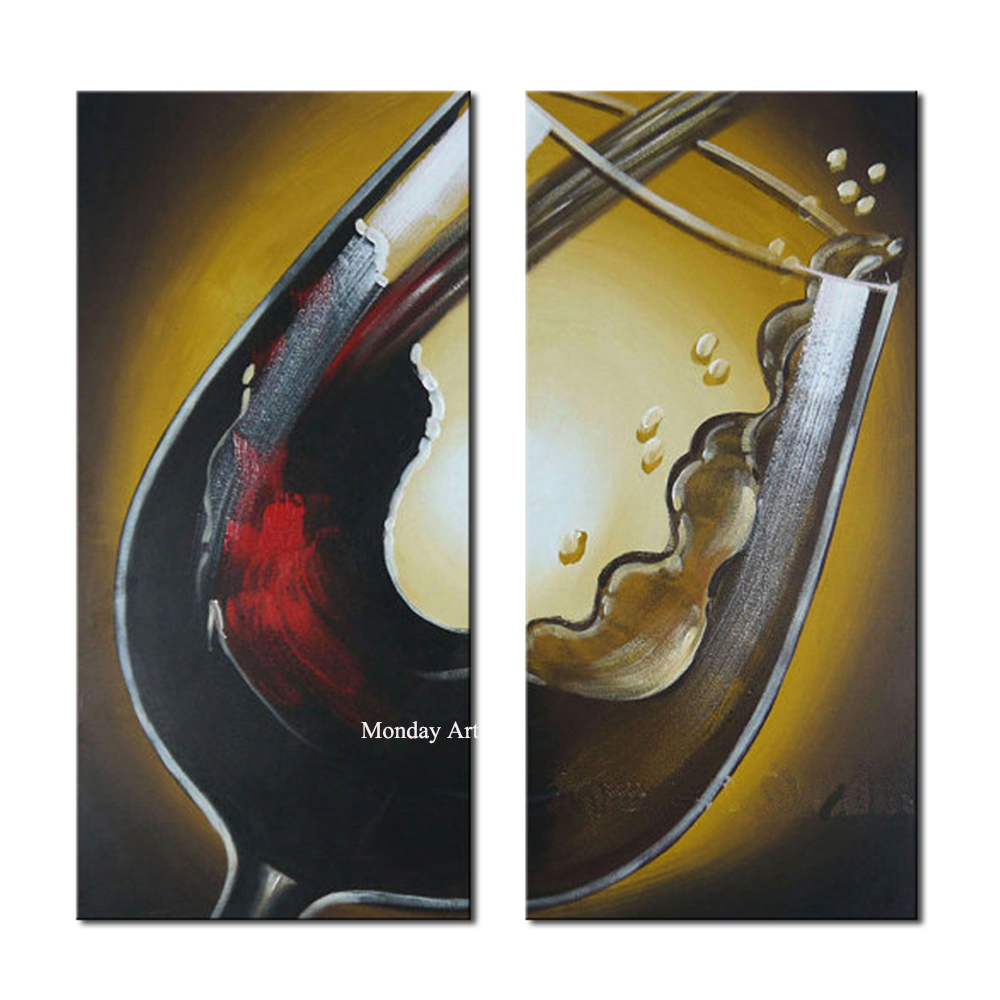 high quality Hand painted grape painting wall art picture home decor beautiful wine glass oil painting on canvas for living room in Painting Calligraphy from Home Garden