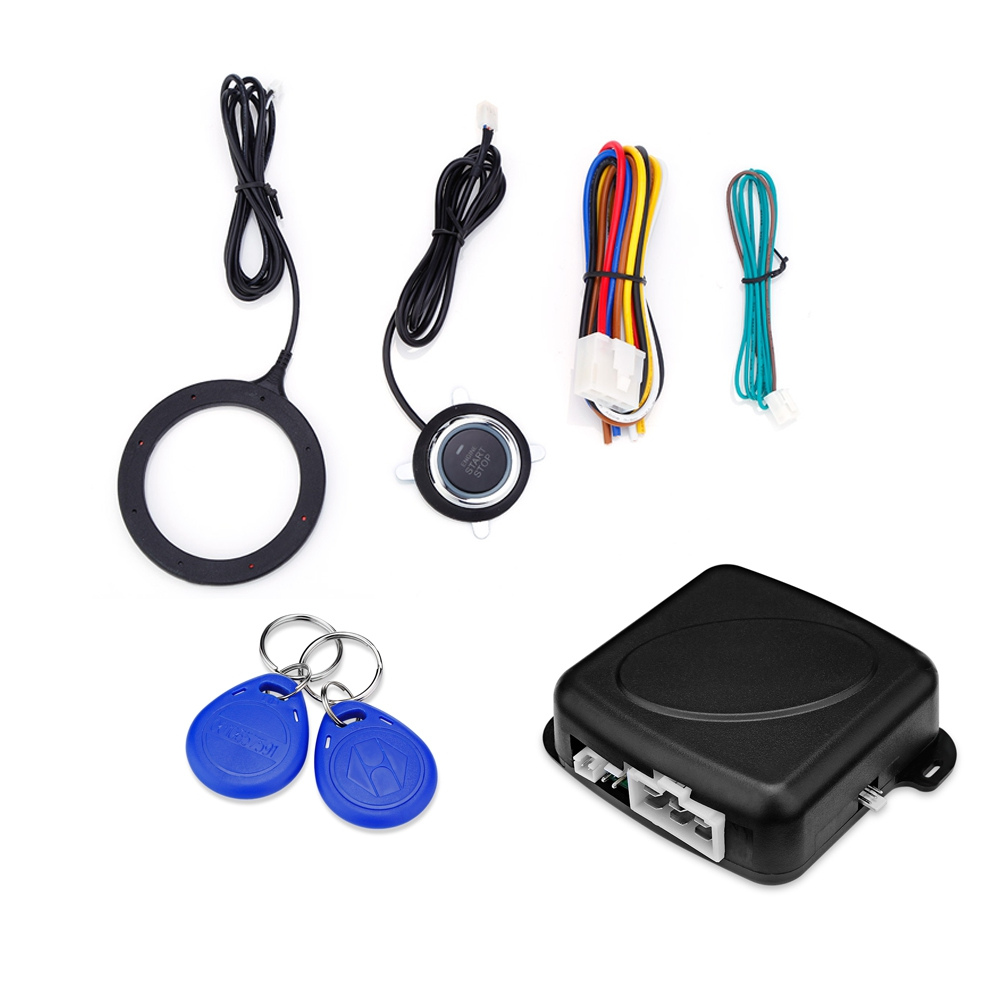 Free Shipping ABS GY902C Car Anti-theft System Engine Push Start Button RFID Lock Ignition Starter Keyless Entry Immobilizer HOT easyguard pke car alarm system remote engine start stop shock sensor push button start stop window rise up automatically