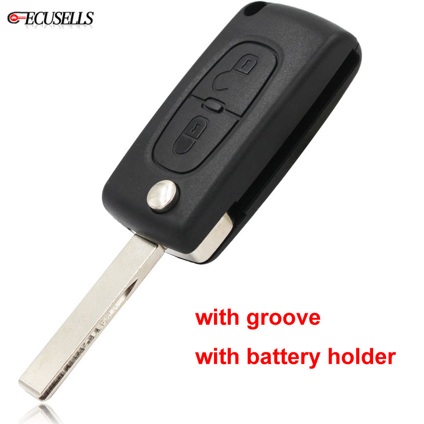 New Remote Head Key Replacement Shell Uncut Blade Keyless Entry FOB Case Housing for 2004 2005 2006 2007 Dodge Grand Caravan 3 Buttons