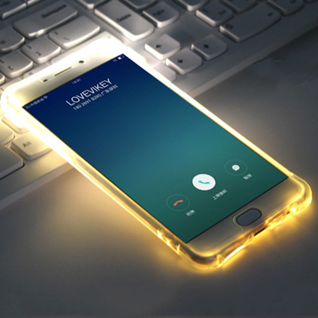 brand new cc6c9 a5d01 US $1.93 48% OFF|For J3 J5 J7 2016 Incoming Call Lum Selfie Light TPU LED  Flash Case for Samsung galaxy Note 4/5 S6 s6edge plus s7 s7edge S8 plus-in  ...