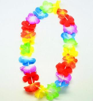 100pcs/lot Fast Shipping Colorful Hawaiian leis Garland Necklace Fancy Dress Party Hawaii Beach Fun Party Supplies