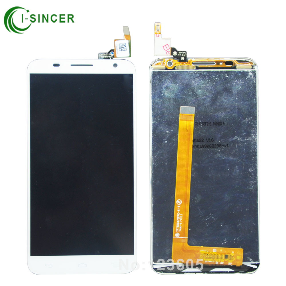 1/pcs Tested White Color LCD Display Screen Touch Digitizer Assembly For Alcatel One Touch Idol 2S OT6050 6050 Free Shipping