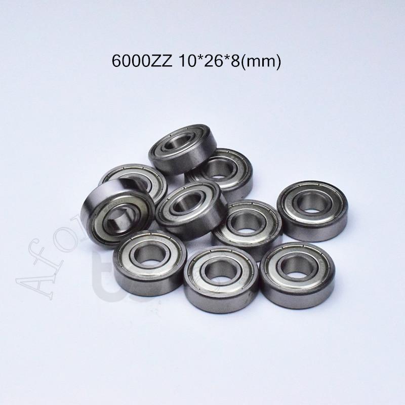 6000ZZ 10*26*8(mm) 1Piece Free Shipping Bearing ABEC-5 6000 6000z 6000ZZ Chrome Steel Deep Groove Bearing