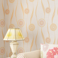 Curved Striped Circle Non Woven Wallpaper For Bedroom Living Room Sofa Background Wall Paper Roll Papel