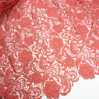 FREE SHIPPING 2015 African Cord Lace Fabric Wholesales African Guipure Lace Fabric 5 Colors