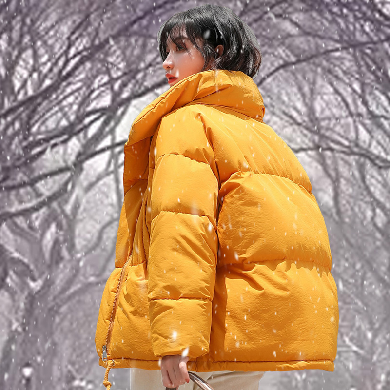 2018 Women Winter Jacket Thicken Warm Loose Padded   Parka   Casual Plus Size Harajuku Warm down   Parka   Loose Padded BF Coat Women