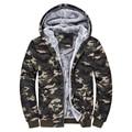 Hot new winter 2016 men's fashion Korean version plus thick velvet hooded casual comfort tide camouflage zipper jacket M-4XL