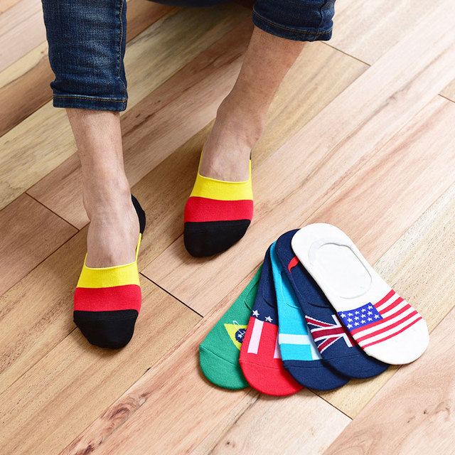 dc9c8d81e4ff 6pairLow Cut No Show Men s Sock Slippers Non-slip Invisible Boat Socks  Spring Summer Fashion