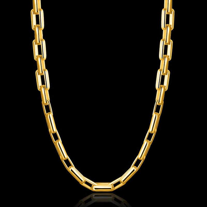 ZORCVENS 2019 nowy 9mm mężczyzna złoty naszyjnik moda Punk fajne łańcucha naszyjnik dla człowieka biżuteria
