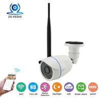 ZSSP Hot Selling 1080P Sony322 Waterproof IR Night Vision Surveillance WiFi IP Camera Wireless Metal Bullet