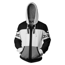 Anime Gaming Kingdom Hearts Sweatshirts Men and Women Zipper Hoodies Sora 3d Print Hooded Jacket for Boys Harajuku Streetwear