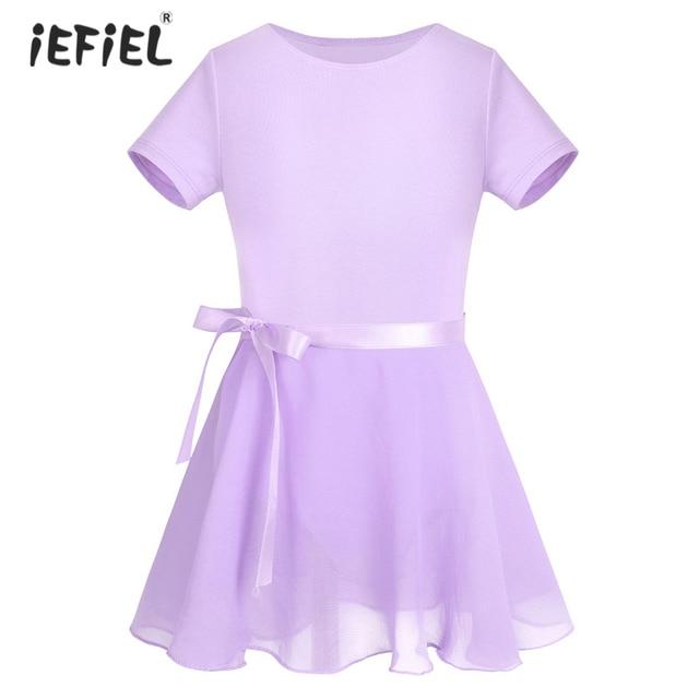 c747abcadead Girls Cotton Short Sleeves Ballet Dancewear Beautiful Ballet Dance ...