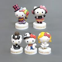40th Anniversary Edition Hellokitty Hello Kitty KT Cat 5 Hand Office Doll Decoration термос термочашка hello kitty hellokitty kt 200ml 280ml