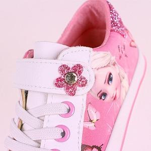 Image 3 - สาวสีชมพูรองเท้าDisney ElsaและAnna Princess Puนุ่มกีฬารองเท้ายุโรปขนาด25 36