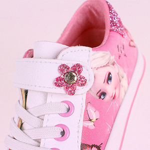 Image 3 - frozen girls pink  Casual Shoes  Disney elsa and Anna princess  pu soft sports shoes Europe size 25 36