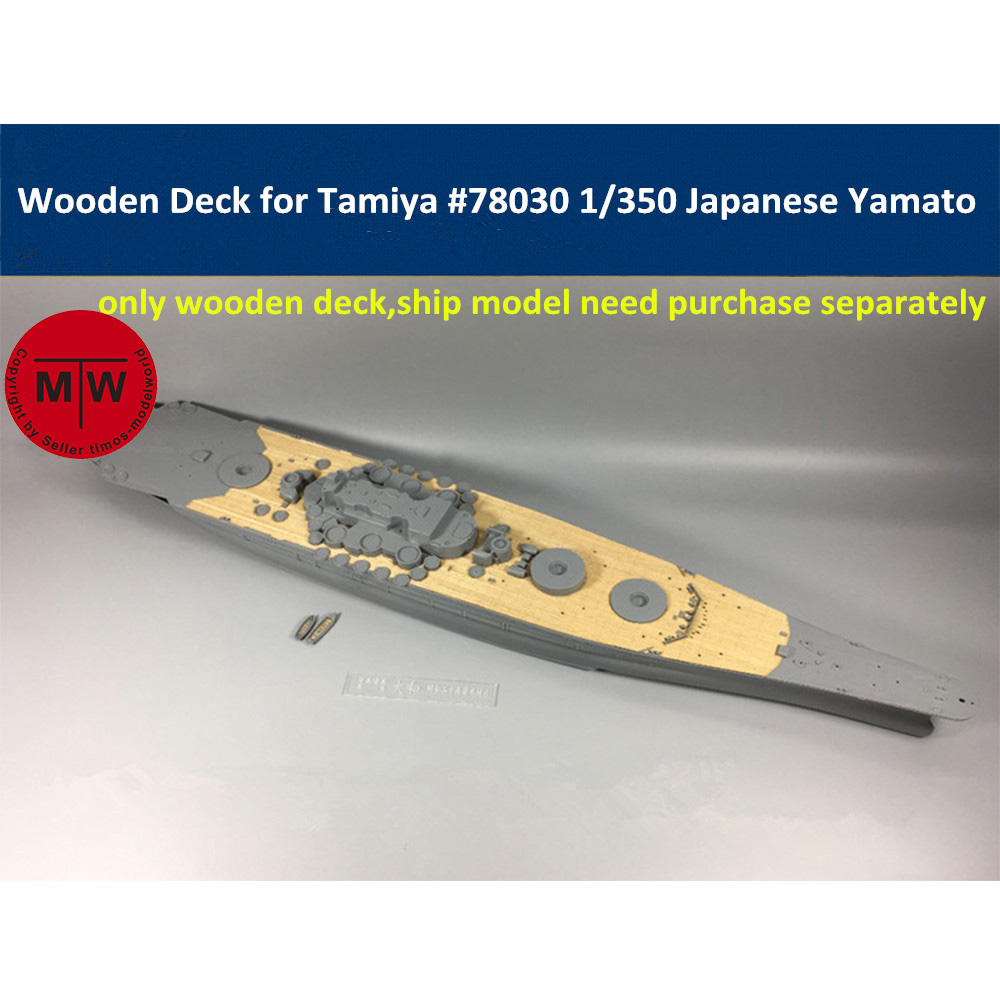 1/350 Scale Wooden Deck For Tamiya 78030 Japanese Battleship Yamato Model CY350006